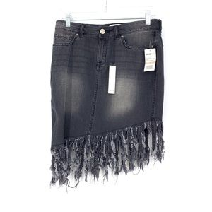 William Rast Sz 28 Chelsea Denim Fringe Skirt